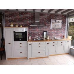 Grande cuisine en bois laquée grise