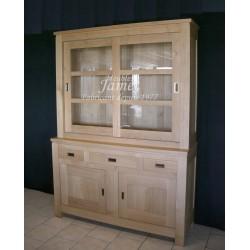 Buffet vaisselier contemporain double vitre