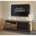 Meuble TV style Atelier noir en chêne