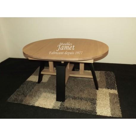 Table ovale style atelier en chêne