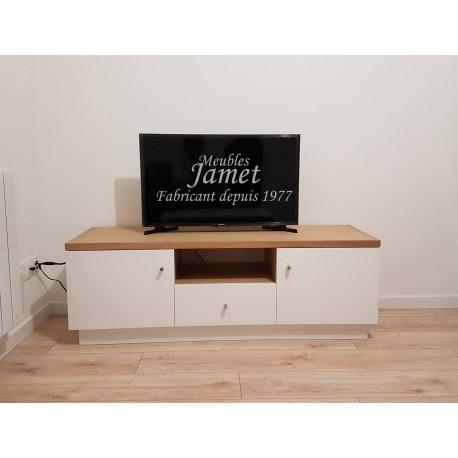 Meuble tv en bois contemporain meubles jamet for Meuble bois contemporain