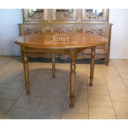 Table ronde en bois fin