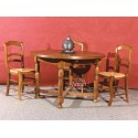 Table ronde basse en bois