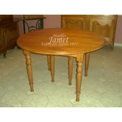 Table ronde en bois 6 pieds