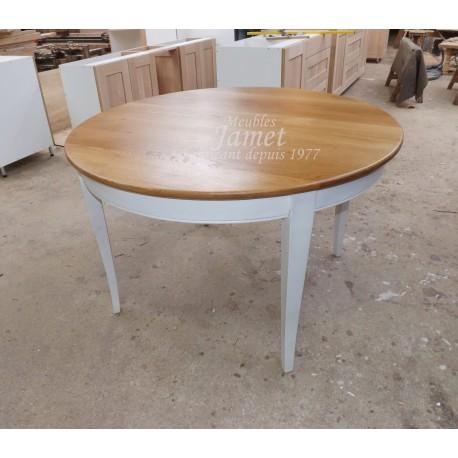 Table ronde pieds sabre