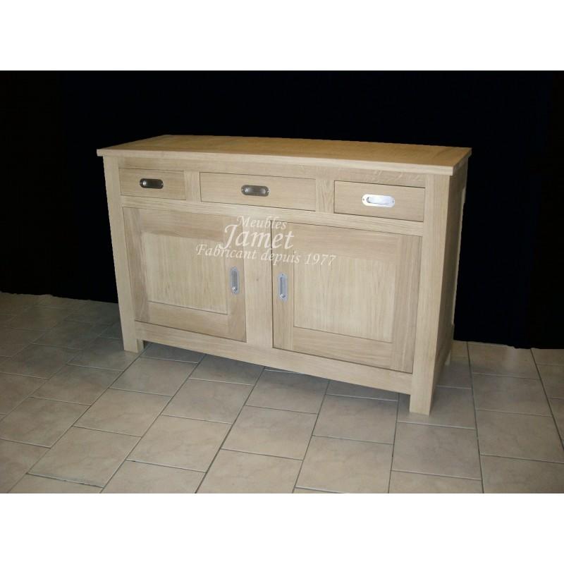 buffet bas contemporain 2 portes en bois meubles jamet. Black Bedroom Furniture Sets. Home Design Ideas