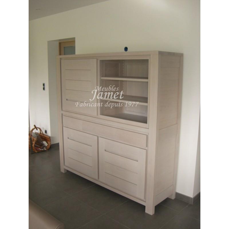 buffet contemporain en bois fin meubles jamet. Black Bedroom Furniture Sets. Home Design Ideas