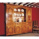 Buffet vaisselier ancien marron