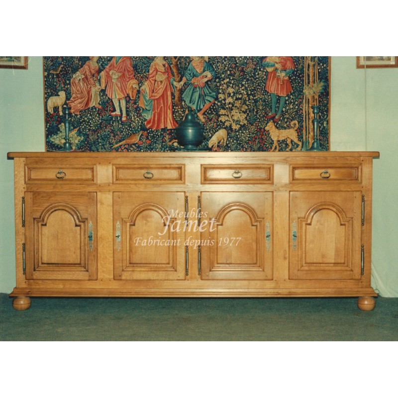 Meuble enfilade louis xiv en bois meubles jamet for Meuble louis xiv