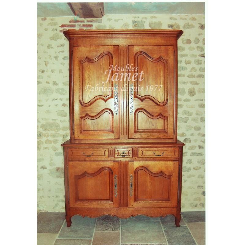 Meuble artisanal deux corps normand meubles jamet for Meuble artisanal