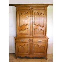 meuble deux corps normand bois marron clair