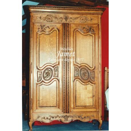 armoire normande en bois clair meubles jamet. Black Bedroom Furniture Sets. Home Design Ideas