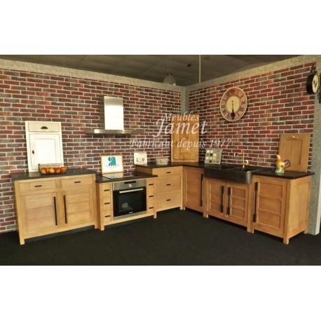 Cuisine charmante et design style atelier meubles jamet for Meuble cuisine style atelier