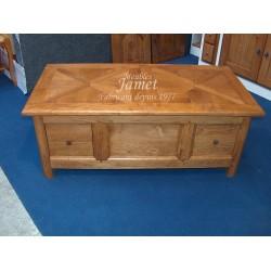 Table de salon en bois gros tiroirs