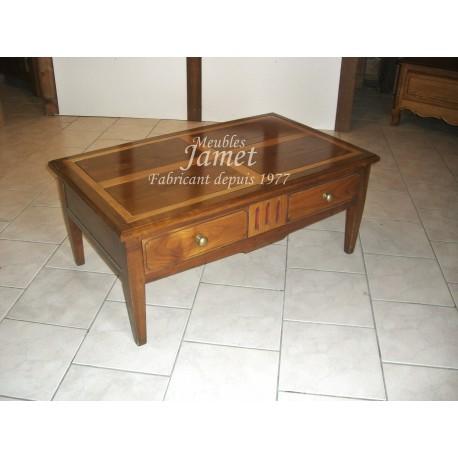 Table de salon bois lisse