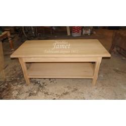 Table de salon en bois fin beige